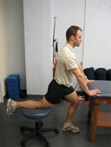 Hip Flexor Stretch with Stool